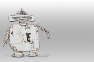 Art, the punk rocker robot by teddybearcholla