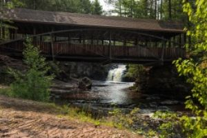 Thumbnail of featured artwork by members: Amnicon Falls Covered Bridge